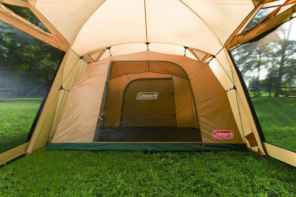 タープ要らずの広いリビング 広いリビングと快適な寝室、1人で設営可能な4-5人用2ルームテント Amazon楽天で通販02